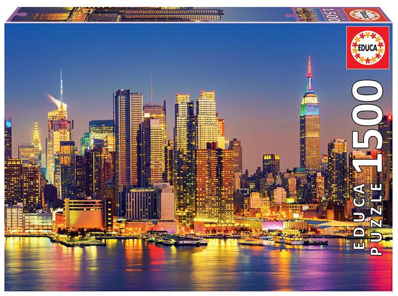 PUZZLE 1500pcs Manhattan à Noite - EDUCA