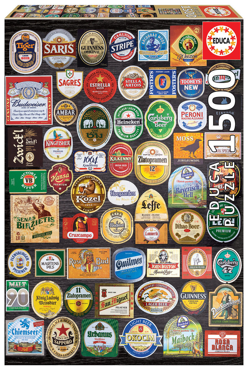 PUZZLE 1500 pcs Etiquetas de Cerveja - EDUCA