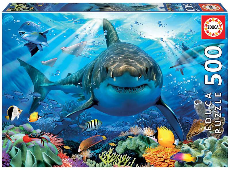 PUZZLE 500 pcs Tubarão Branco - EDUCA