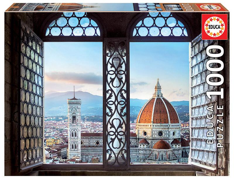 PUZZLE 1000pcs Vistas de Florença - EDUCA