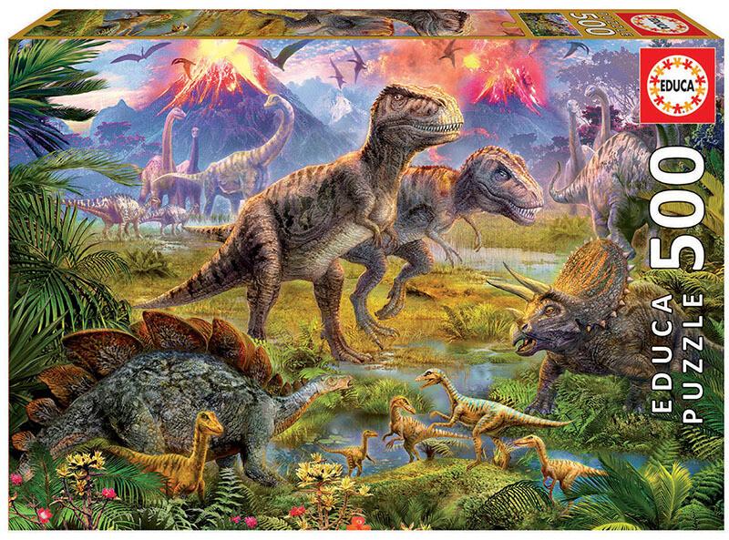 PUZZLE 500pcs Encontro de Dinossauros - EDUCA