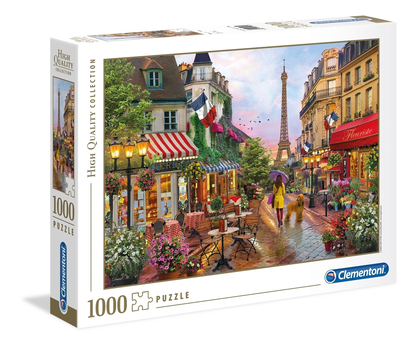 PUZZLE 1000 HQ  - Flowers in Paris - CLEMENTONI