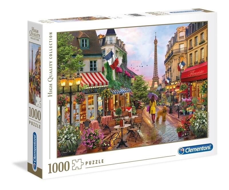 PUZZLE 1000 HQ  - Flowers in Paris - CLEMENTONI