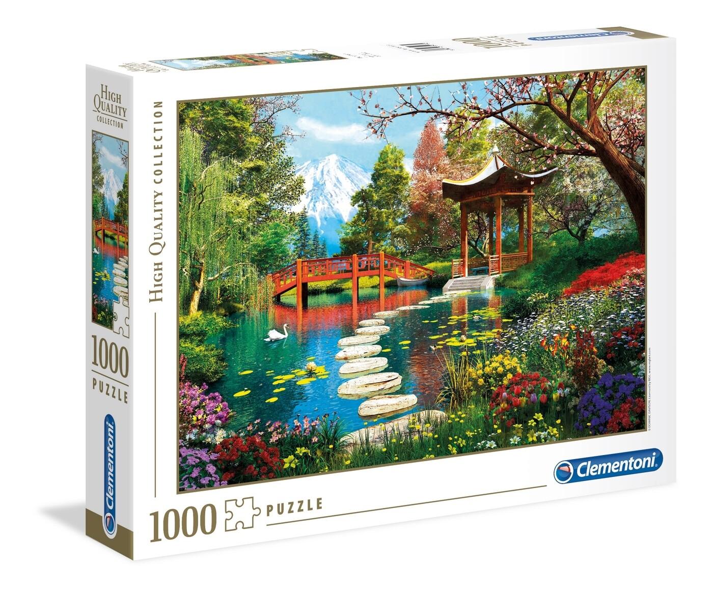 PUZZLE 1000 HQ  - Fuji Garden - CLEMENTONI