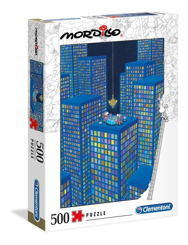 PUZZLE 500 Mordillo - The Dinner - CLEMENTONI