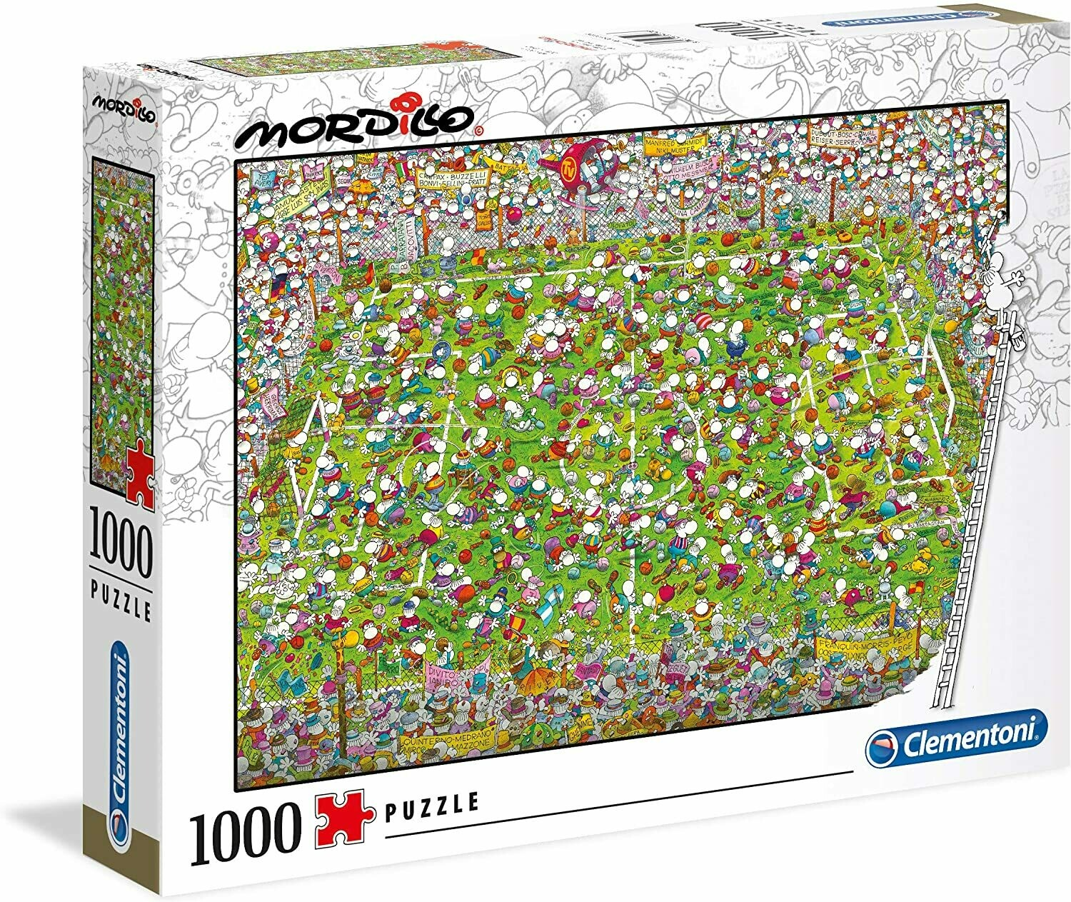 PUZZLE 1000 Mordillo - The Match - CLEMENTONI