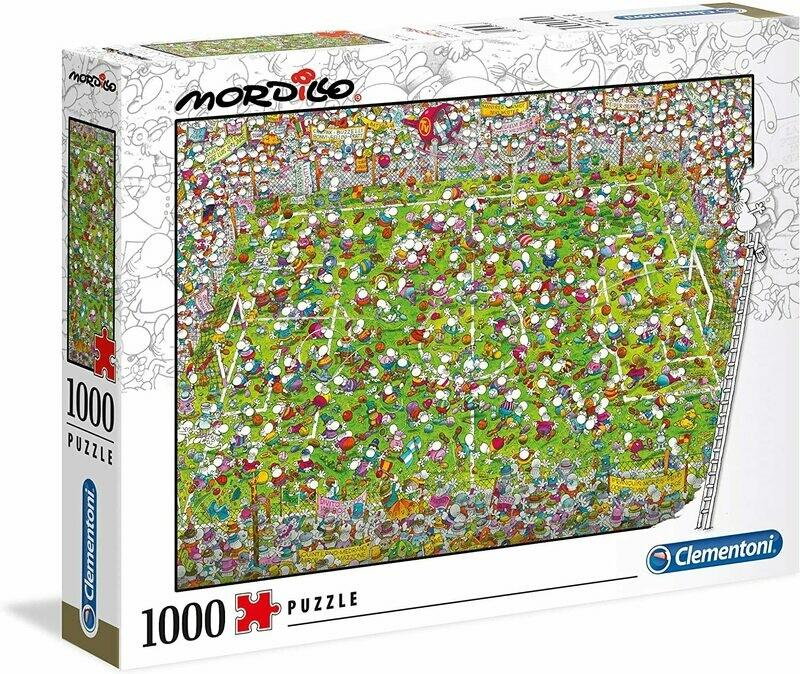 PUZZLE 1000 Mordillo - The Match - CLEMENTONI