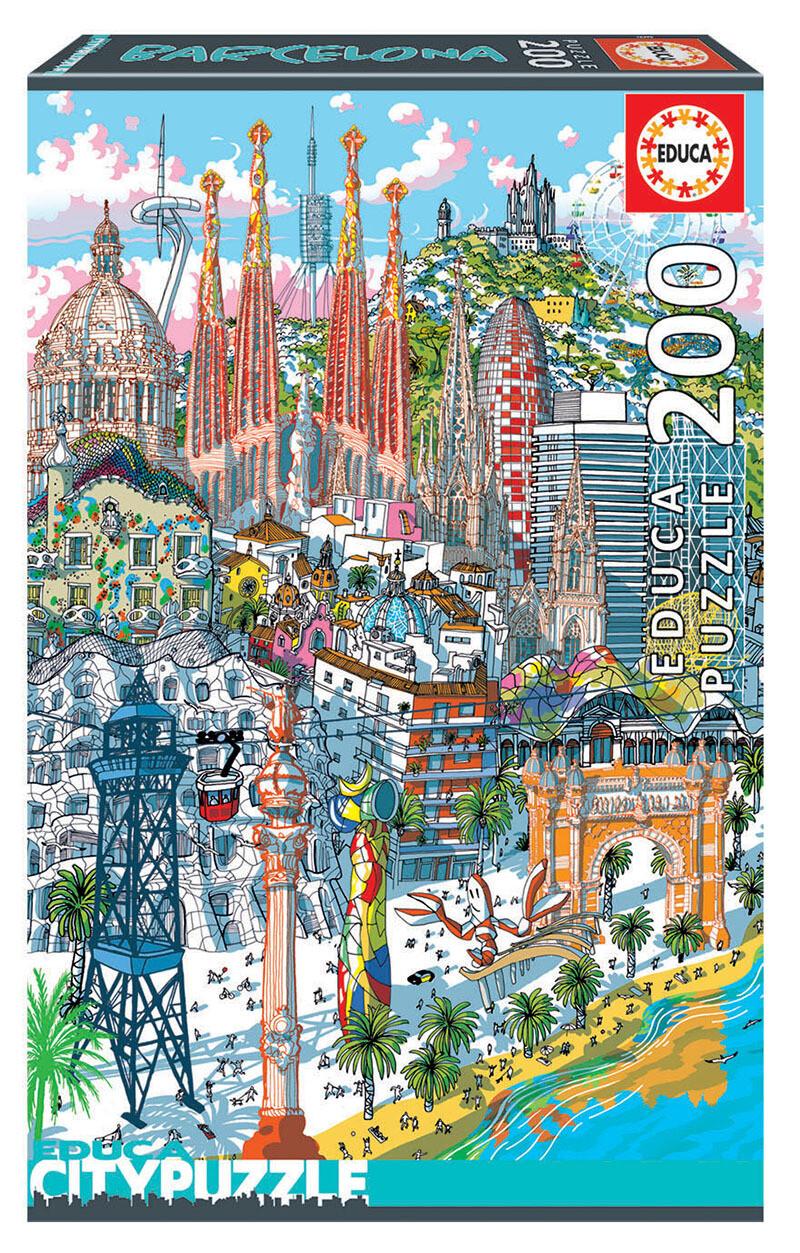 PUZZLE 200pcs Barcelona - EDUCA