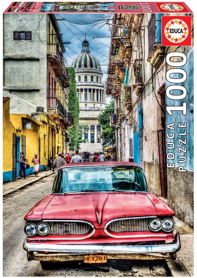 PUZZLE 1000 pcs Carro em Havana - EDUCA