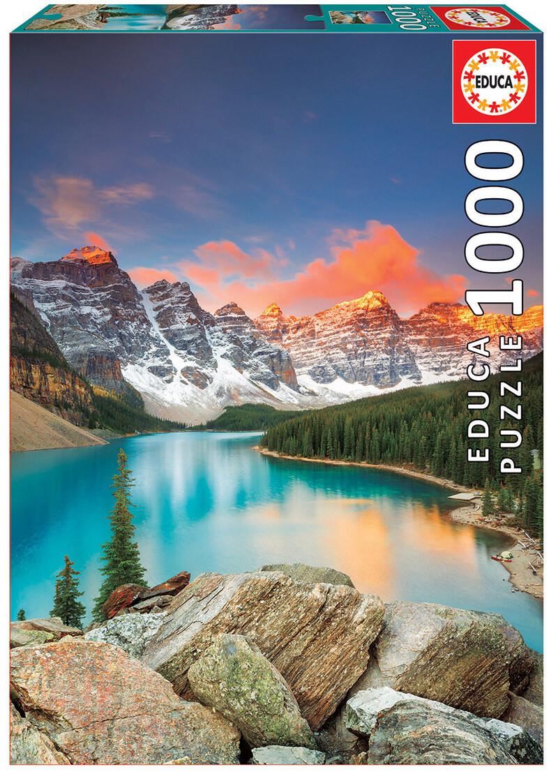 PUZZLE 1000 pcs Lago Moraine - Banff National Park - EDUCA