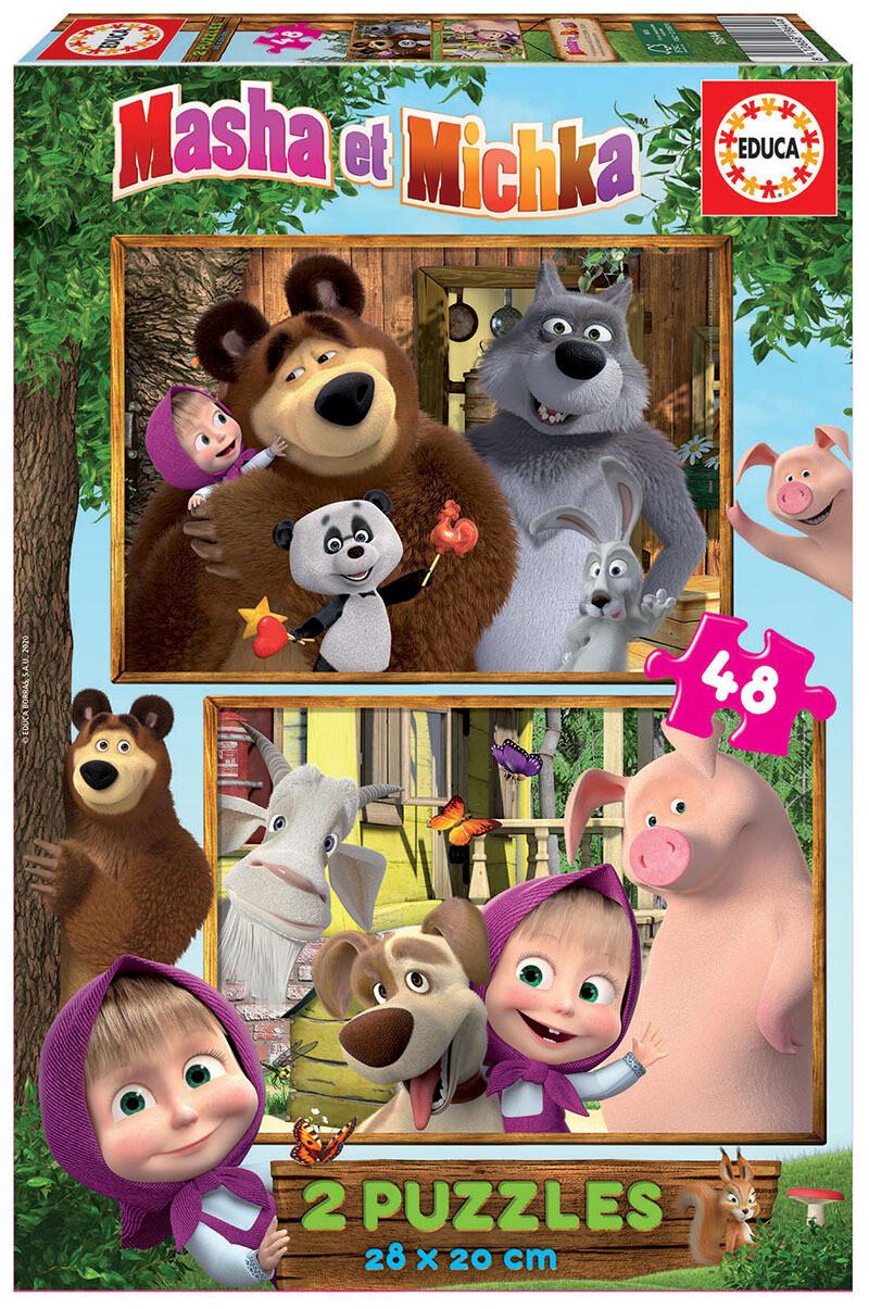 PUZZLE 2x48 pcs Masha e Urso - EDUCA