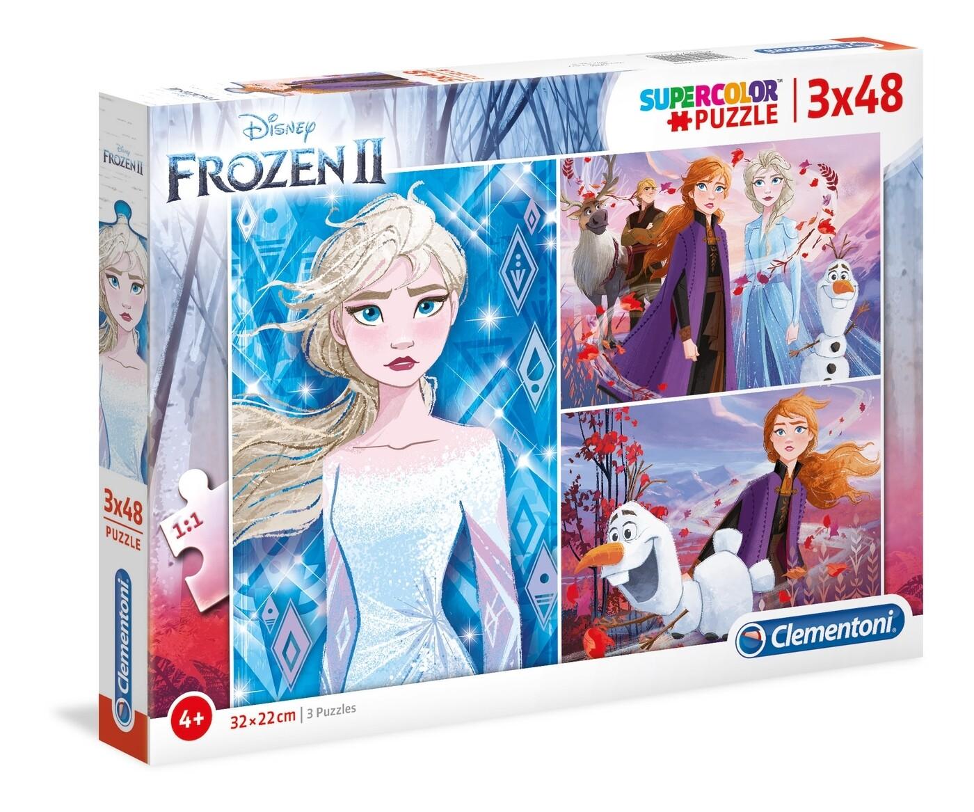 PUZZLE Frozen II - 3x48pcs - CLEMENTONI