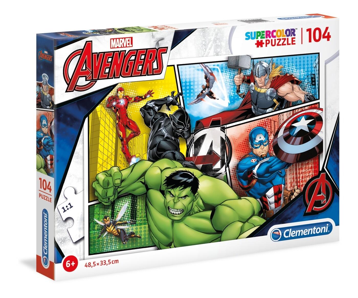 PUZZLE Super 104pcs Vingadores Marvel - CLEMENTONI