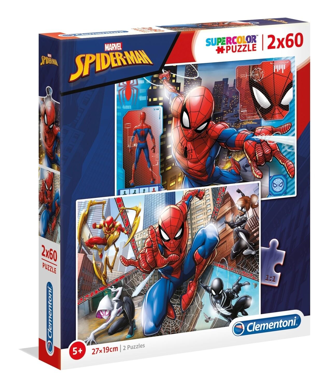 PUZZLE Super 2x60pcs Spiderman - CLEMENTONI
