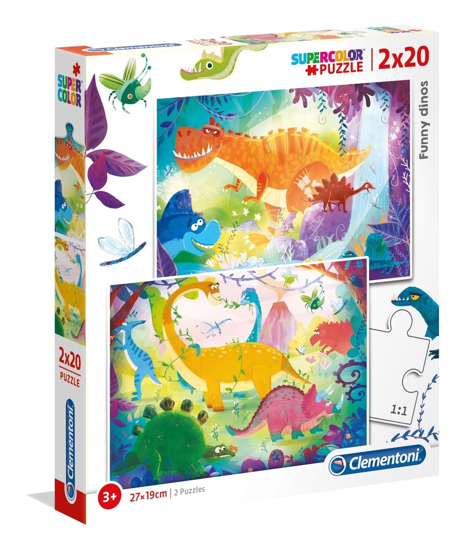 PUZZLE Dinossauro 2x20 pcs - CLEMENTONI