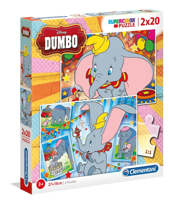 PUZZLE Dumbo 2x20pcs - CLEMENTONI