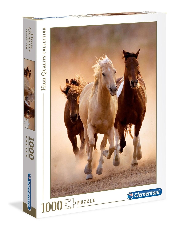 PUZZLE 1000 HQ Running Horses - CLEMENTONI