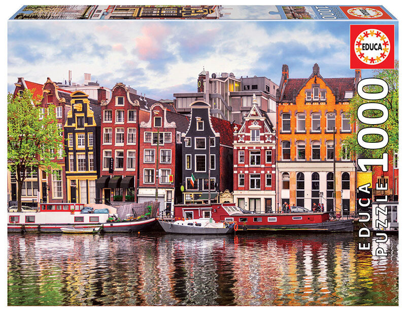 PUZZLE 1000 pcs Casas Dançantes - Amesterdão - EDUCA
