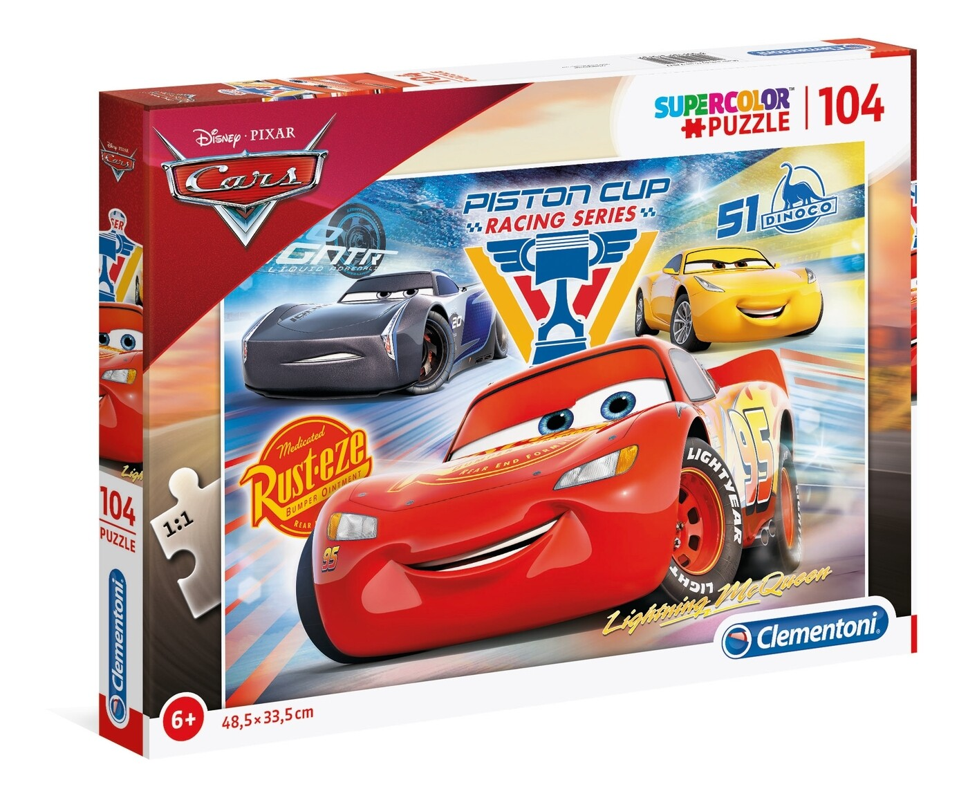 PUZZLE Super 104pcs Cars 3 -- CLEMENTONI