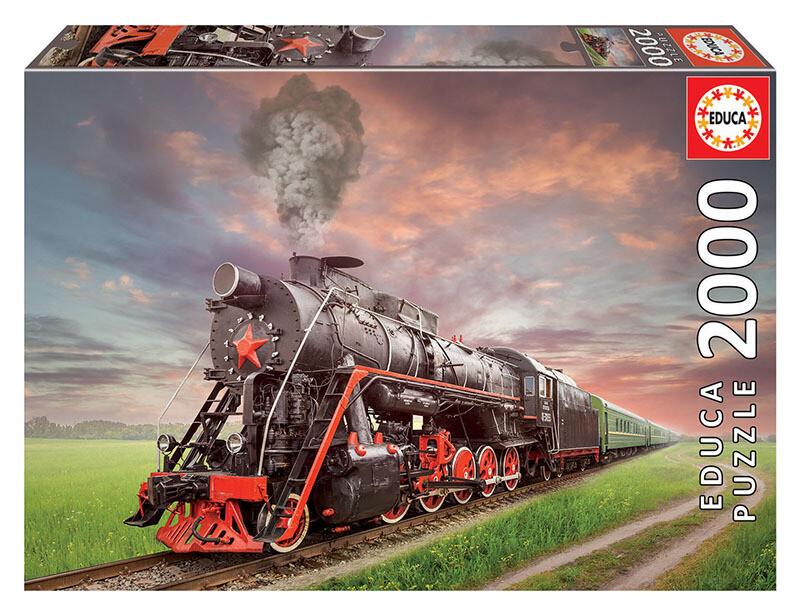 PUZZLE 2000 pcs - Locomotiva a Vapor - EDUCA