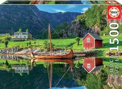 PUZZLE 1500 pcs - Barco Viking - EDUCA