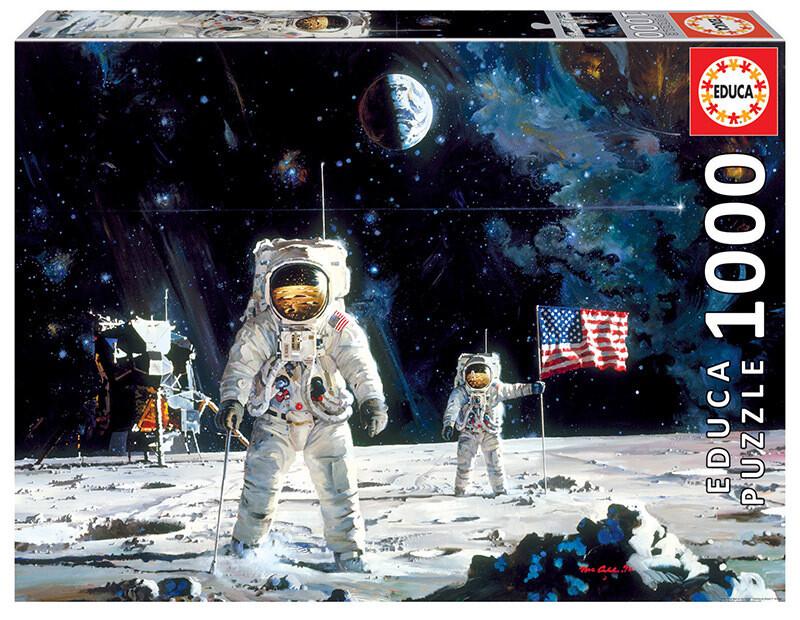 PUZZLE 1000 pcs 1º Homem na Lua - EDUCA