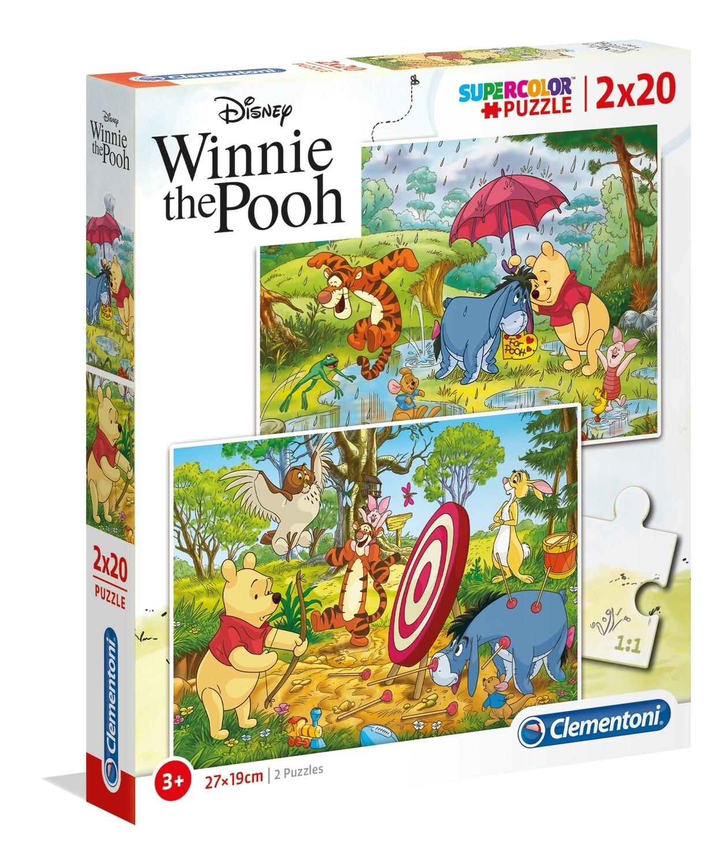 PUZZLE Winnie the Pooh 2x20 pcs - CLEMENTONI