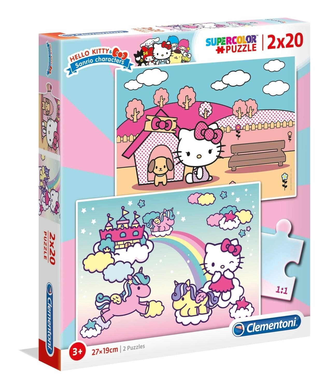 PUZZLE Hello Kitty 2x20 pcs - CLEMENTONI