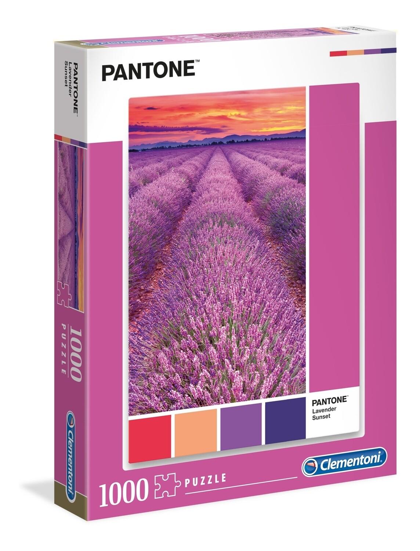 PUZZLE 1000 pcs Coleção Pantone 2 - LAVANDA - CLEMENTONI