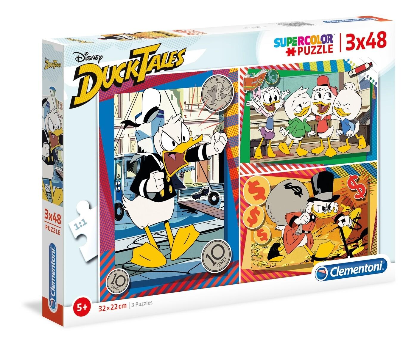 PUZZLE Ducktales - Disney 3x48pcs - CLEMENTONI