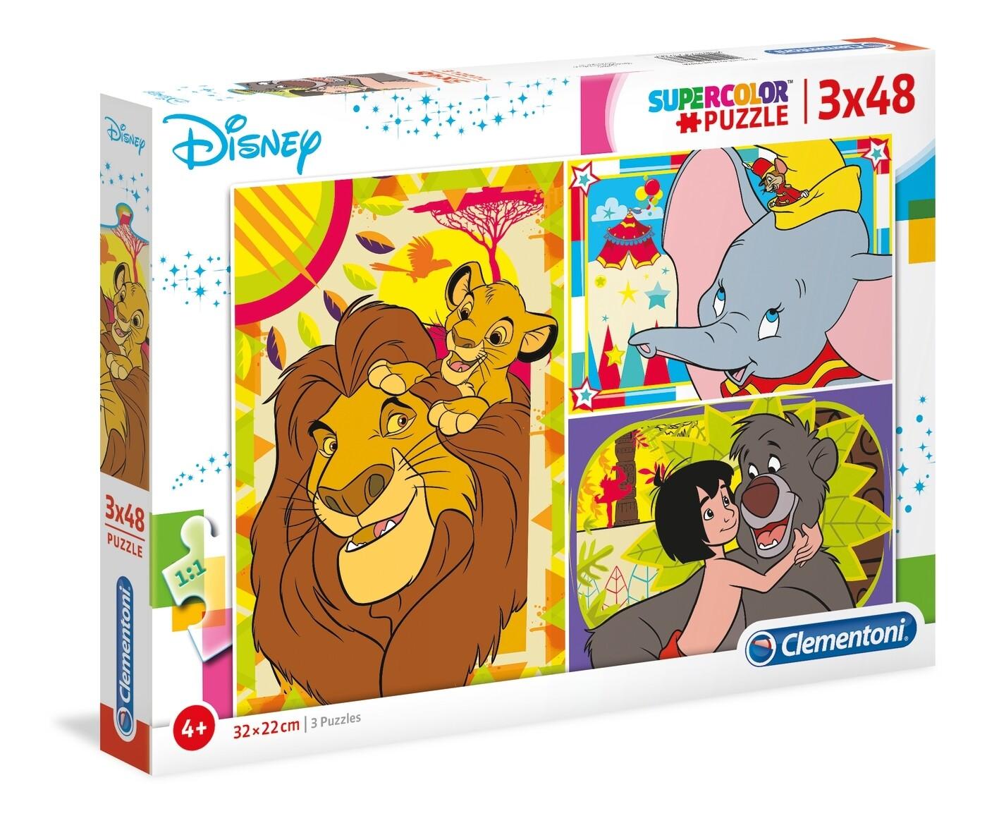 PUZZLE Disney Classic 3x48 pcs - CLEMENTONI