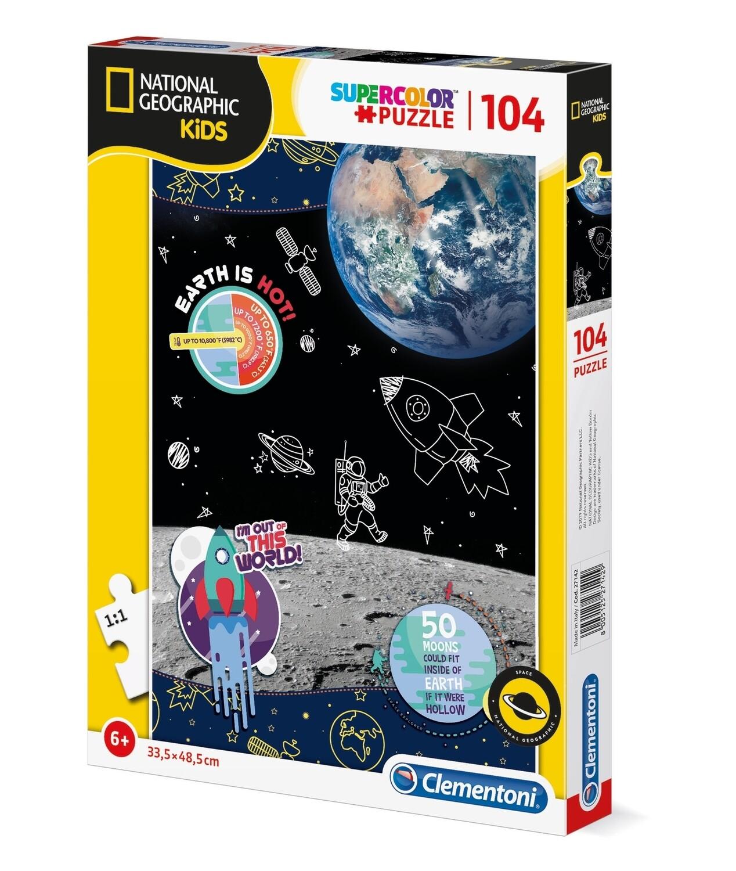 PUZZLE Super 104 pcs National Geographic - Espaço - CLEMENTONI