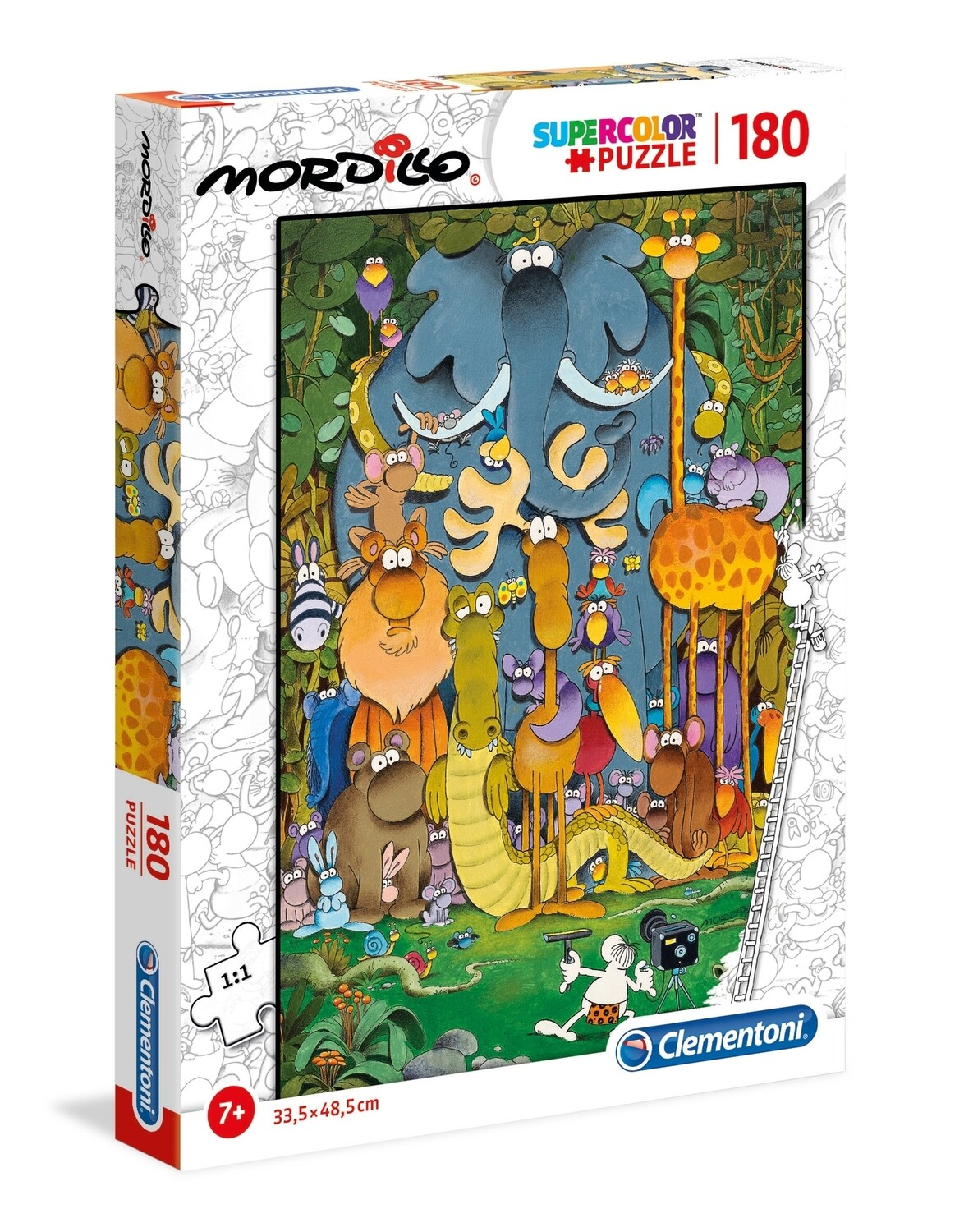 PUZZLE Super 180 pcs Mordillo - The Picture - CLEMENTONI