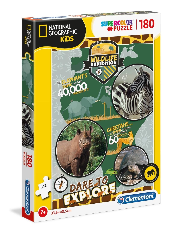 PUZZLE Super 180 pcs National Geographic - Vida Selvagem - CLEMENTONI