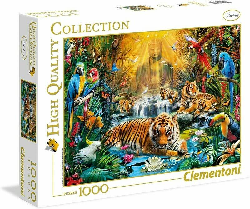PUZZLE 1000 HQ Mystical Tigers - CLEMENTONI
