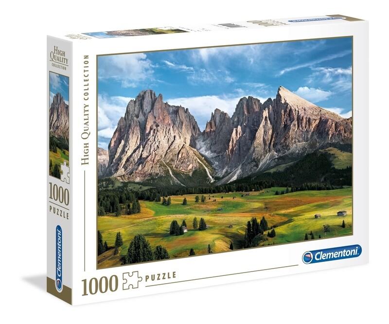 PUZZLE 1000 HQ Picos nos Alpes - CLEMENTONI