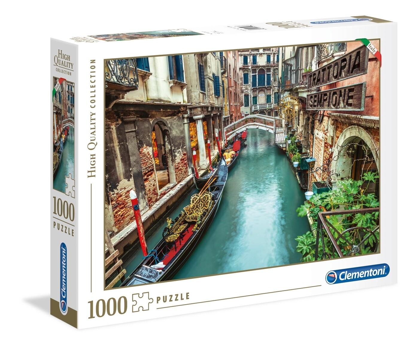 PUZZLE 1000 HQ Canal de Veneza - CLEMENTONI