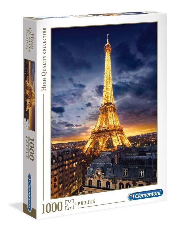 PUZZLE 1000 HQ Torre Eiffel - CLEMENTONI