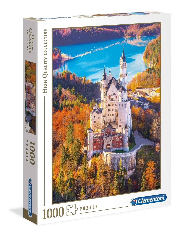 PUZZLE 1000 HQ Neuschwanstein Castle - CLEMENTONI