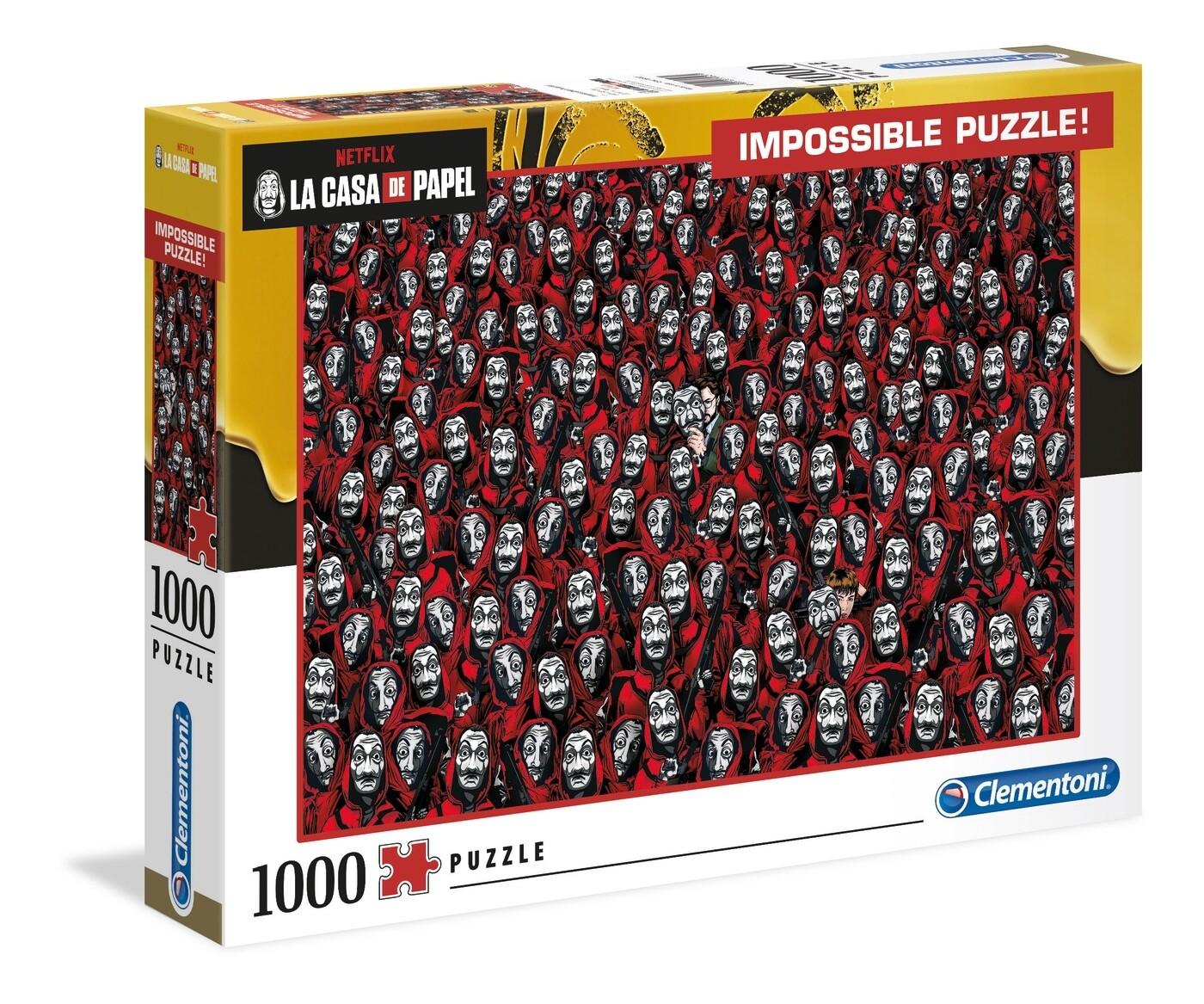 PUZZLE 1000 Casa de Papel - Impossible - CLEMENTONI
