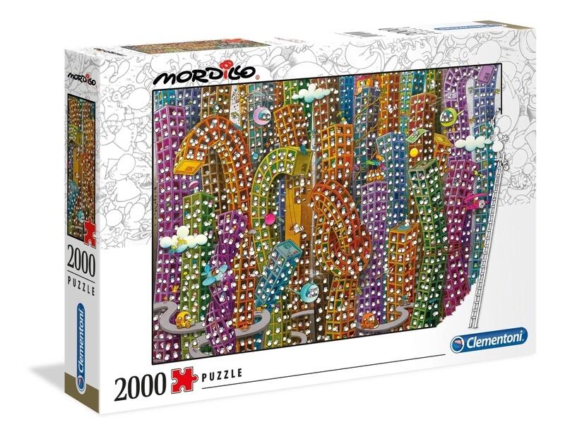 PUZZLE 2000 Mordillo - The Jungle - CLEMENTONI