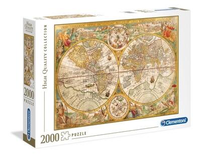 PUZZLE 2000 HQ Mapa Antigo - CLEMENTONI