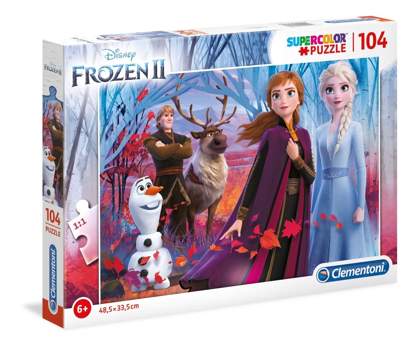PUZZLE Super 104 pcs Frozen 2 - CLEMENTONI