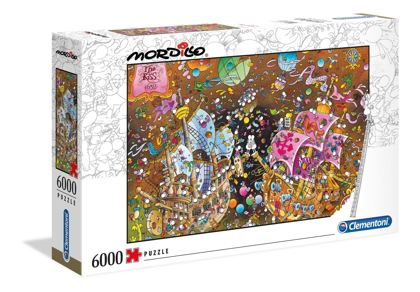 PUZZLE 6000 Mordillo - The Kiss - CLEMENTONI