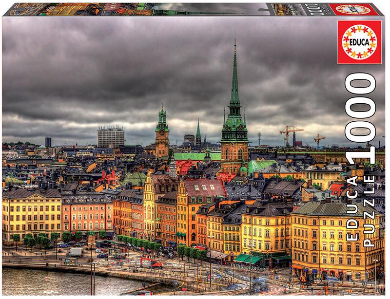 PUZZLE 1000 pcs Vistas de Estocolmo - EDUCA
