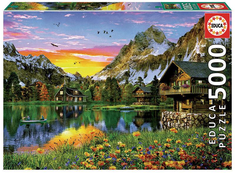 PUZZLE 5000 pcs Lago Alpino - EDUCA