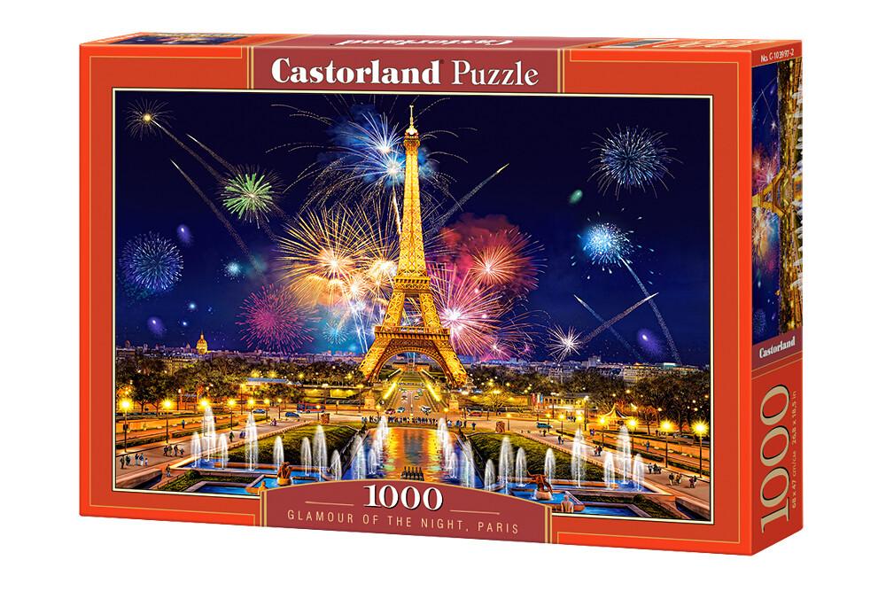 PUZZLE 1000 pcs Paris, Noite Glamorosa - CASTORLAND