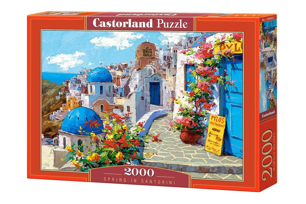 PUZZLE 2000 pcs - Primavera em Santorini - CASTORLAND