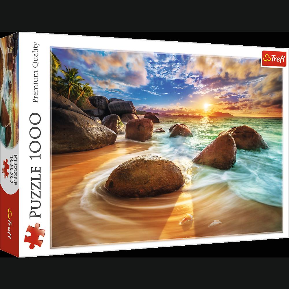 PUZZLE 1000 pcs -Praia de Samudra, India - TREFL