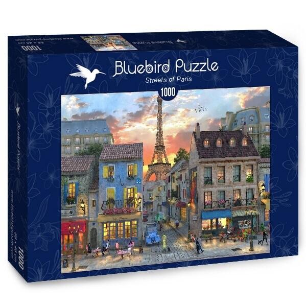 PUZZLE 1000 pcs - Ruas de Paris - BLUEBIRD